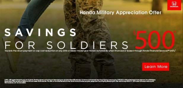 Honda Military Thank You