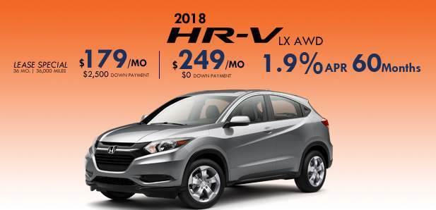 January HR-V Special $179/mo $2,500 Down
