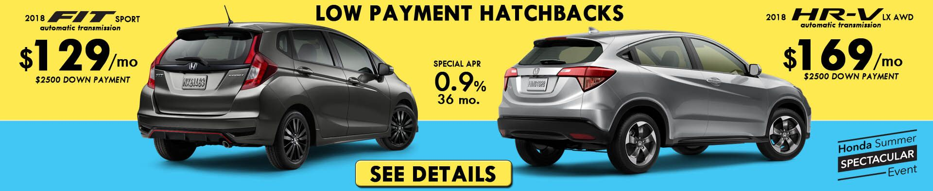 Low Payments On Hatchbacks