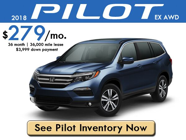 2018 Pilot EX AWD Lease: $279/month