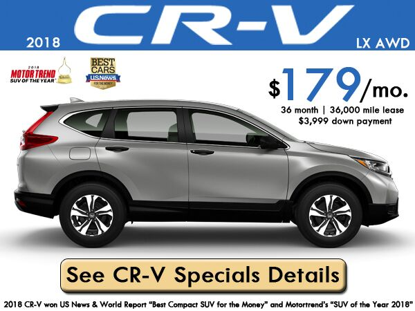 2018 CR-V LX AWD Lease: $179/month