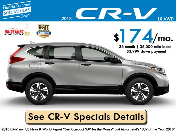 2018 CR-V LX AWD Lease: $174/month