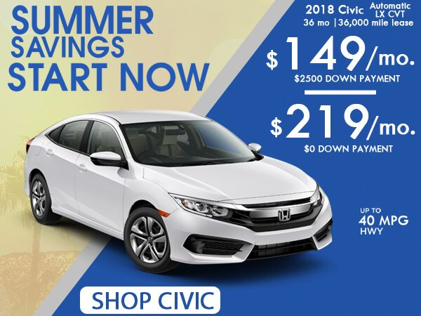 Civic June Special: $219/mo