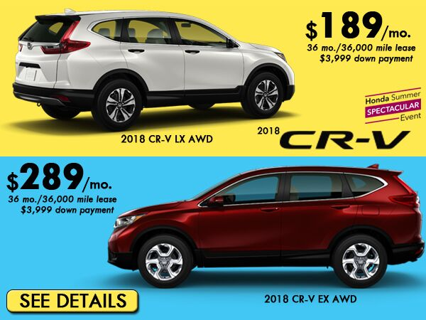Low Payments On CR-V: $229/mo.