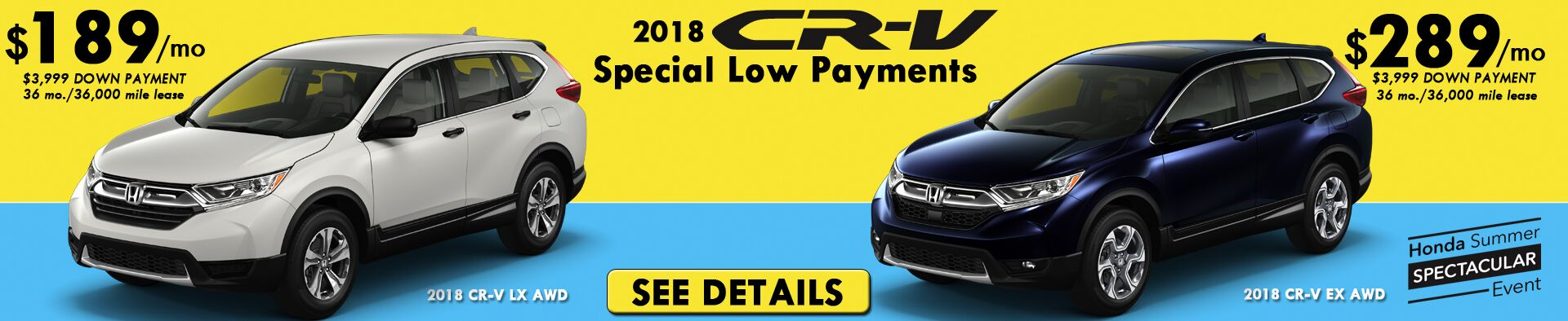 CR-V Special Lease Payments
