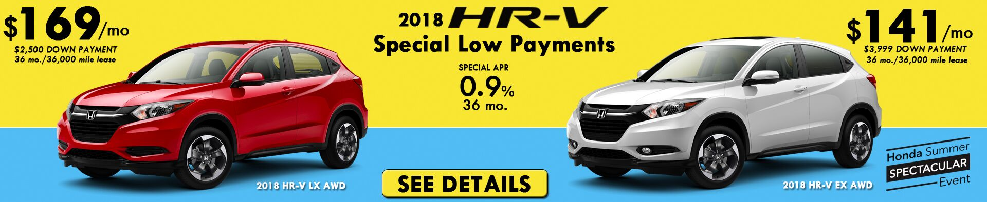HR-V Special Lease Payments