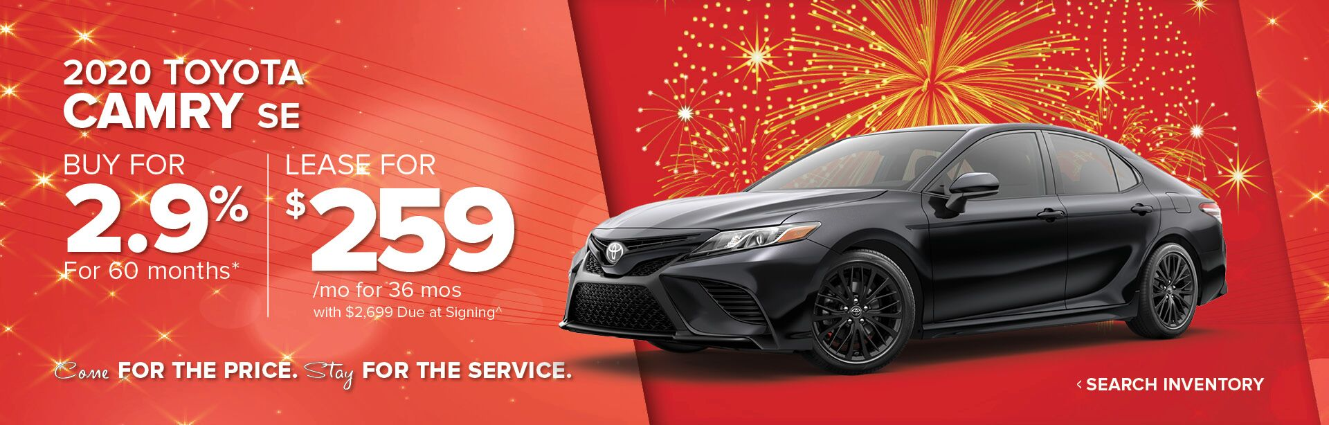 January 2020 Camry HP Banner