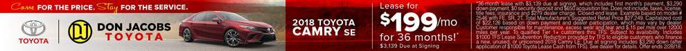 2.18 Camry SE Lease