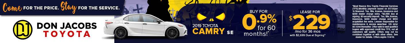 October 2019 Camry