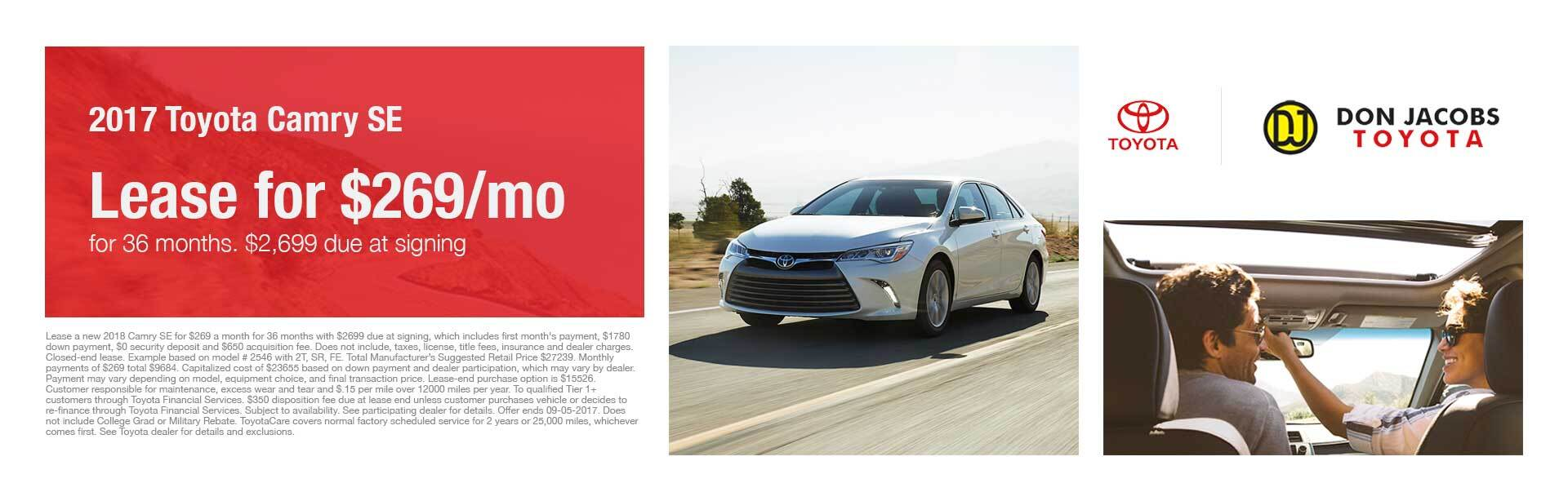 2017 Toyota Camry SE Don Jacobs Toyota