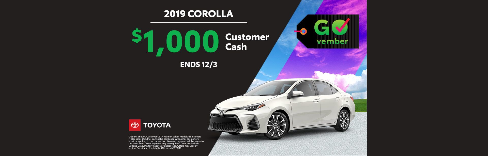 GOvember Corolla Nov 2018