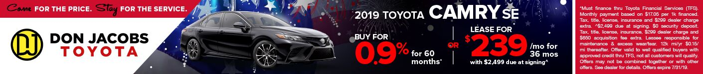 4th of July Camry SRP Banner