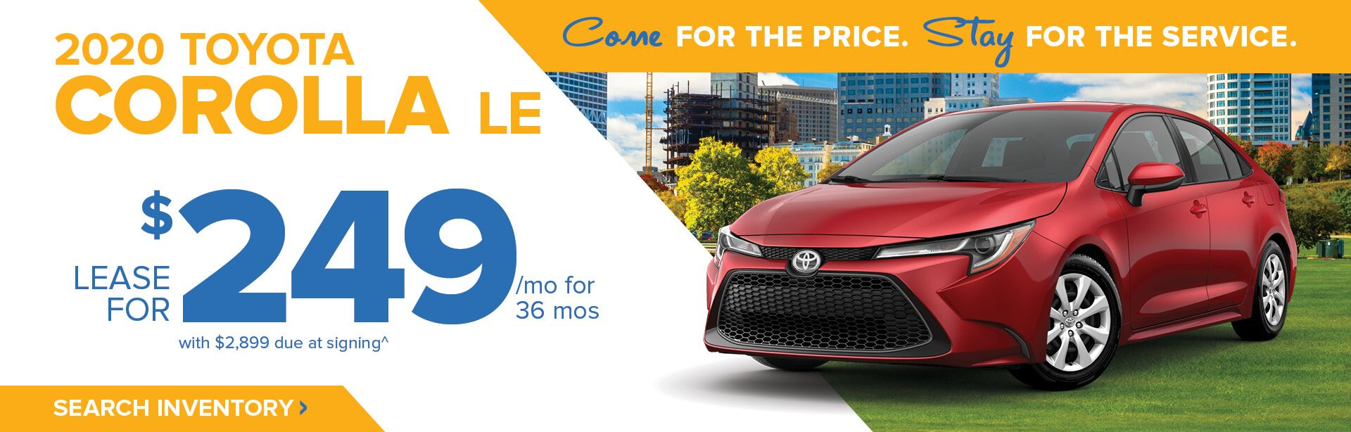 June Corolla HP Banner