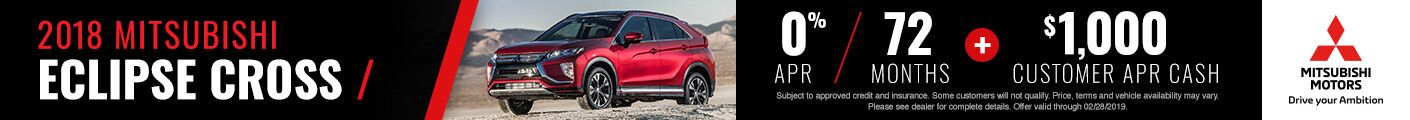 2018 Eclipse Cross Offer