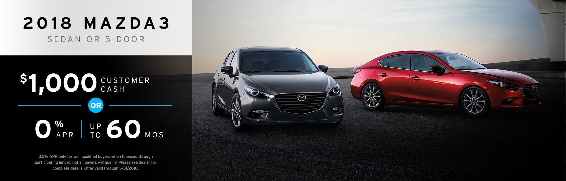 2018 Mazda3 May Offer