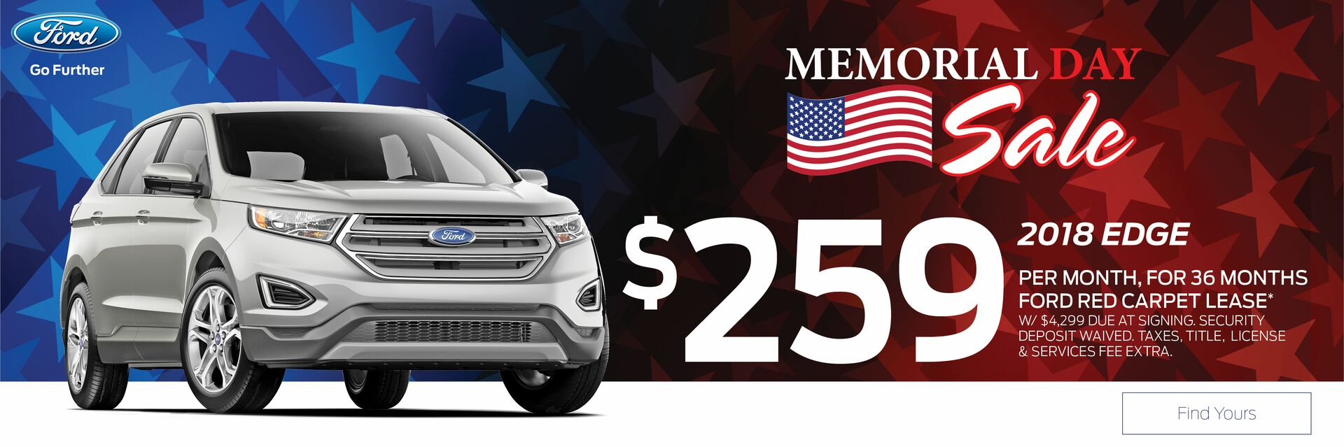 Lease a Ford Edge at Holiday Ford in Fond du Lac, WI