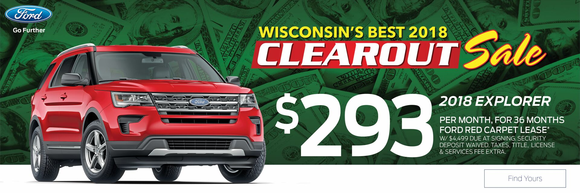 Lease a Ford Explorer at Holiday Ford in Fond du Lac, WI
