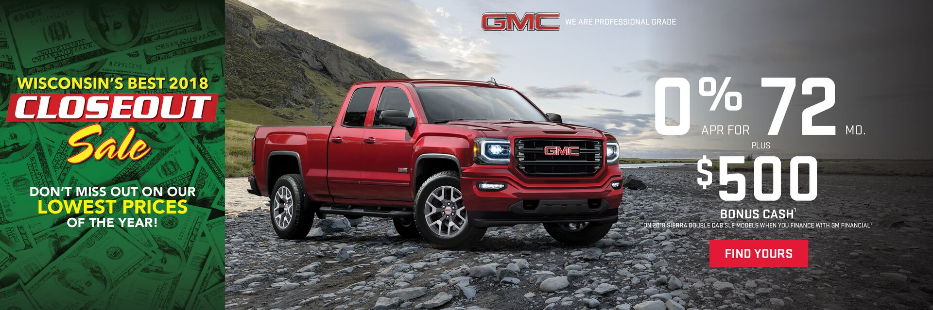 Great offers on new GMCs at Holiday Automotive in Fond du Lac, WI