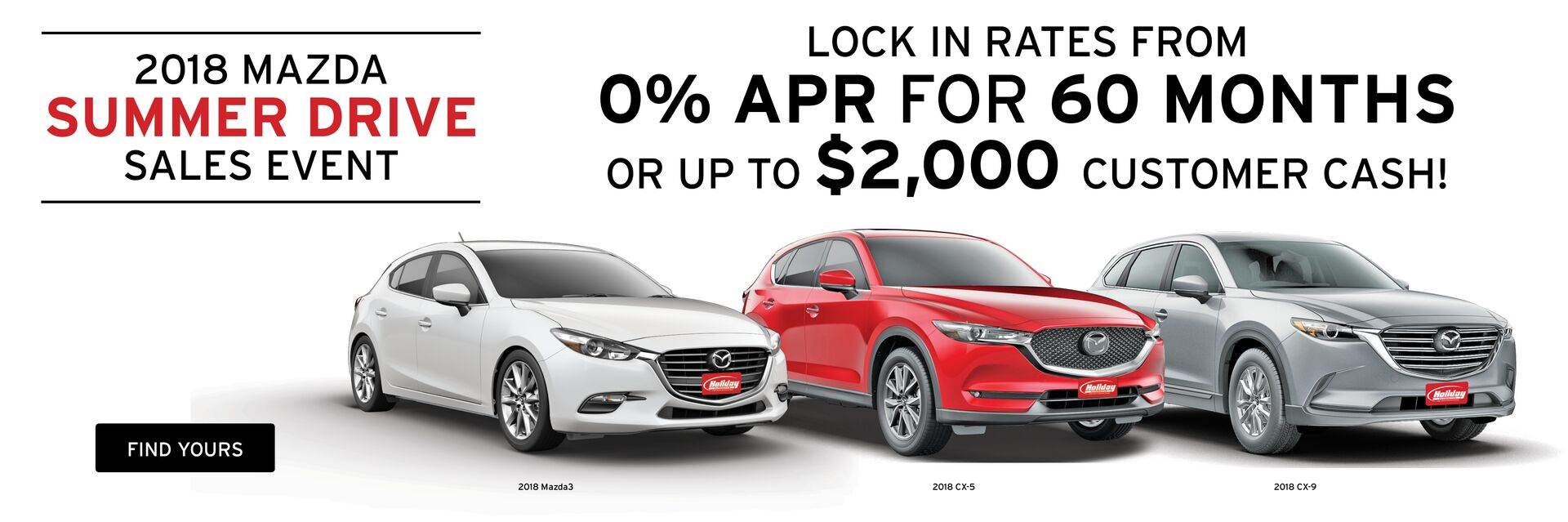 Great offers on new Mazdas at Holiday Automotive in Fond du Lac, WI