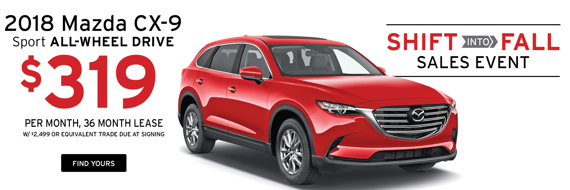 Lease a Mazda CX-9 at Holiday Mazda in Fond du Lac, WI