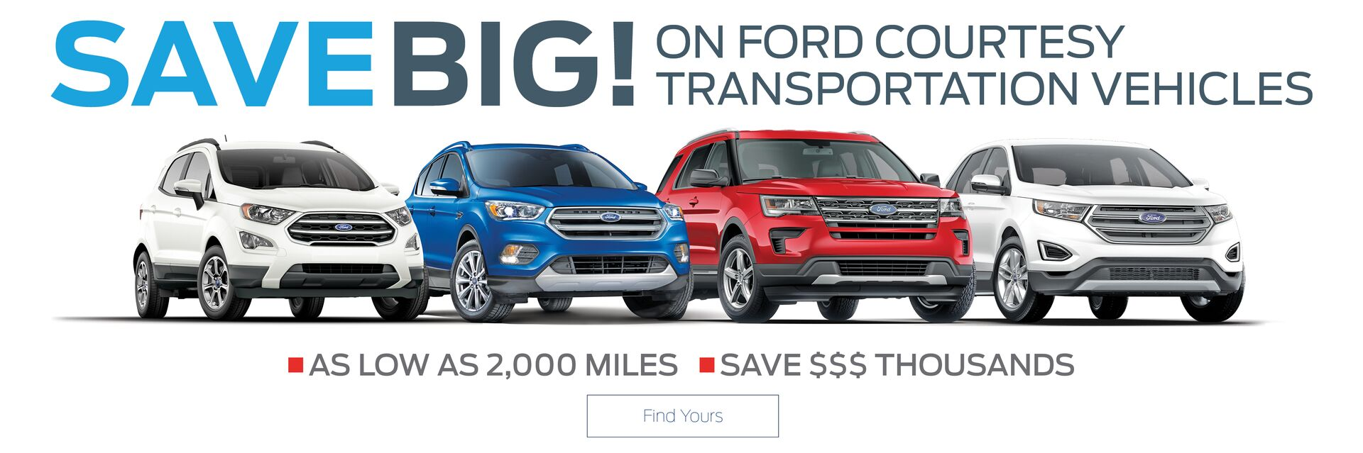 Save Big on Ford Courtesy Transportation Vehicles at Holiday Ford in Fond du Lac, WI