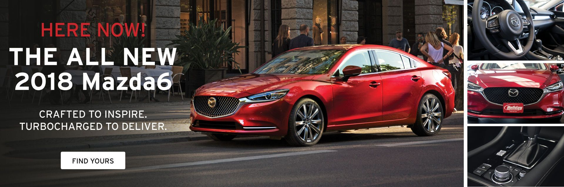 The 2018 Mazda6 is here at Holiday Mazda in Fond du Lac, WI
