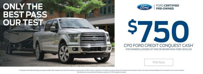 CPO Ford Credit Conquest Cash at Holiday Ford in Fond du Lac, WI