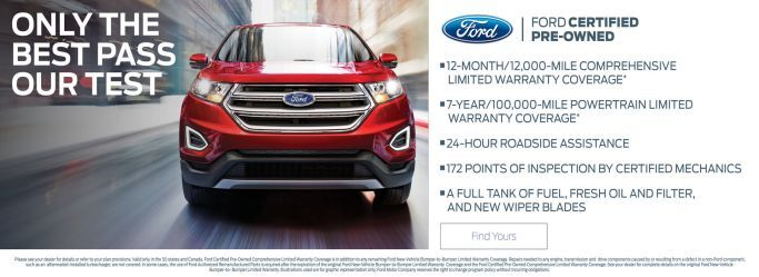 Great offers on Certified Pre-Owned Fords at Holiday Ford in Fond du Lac, WI