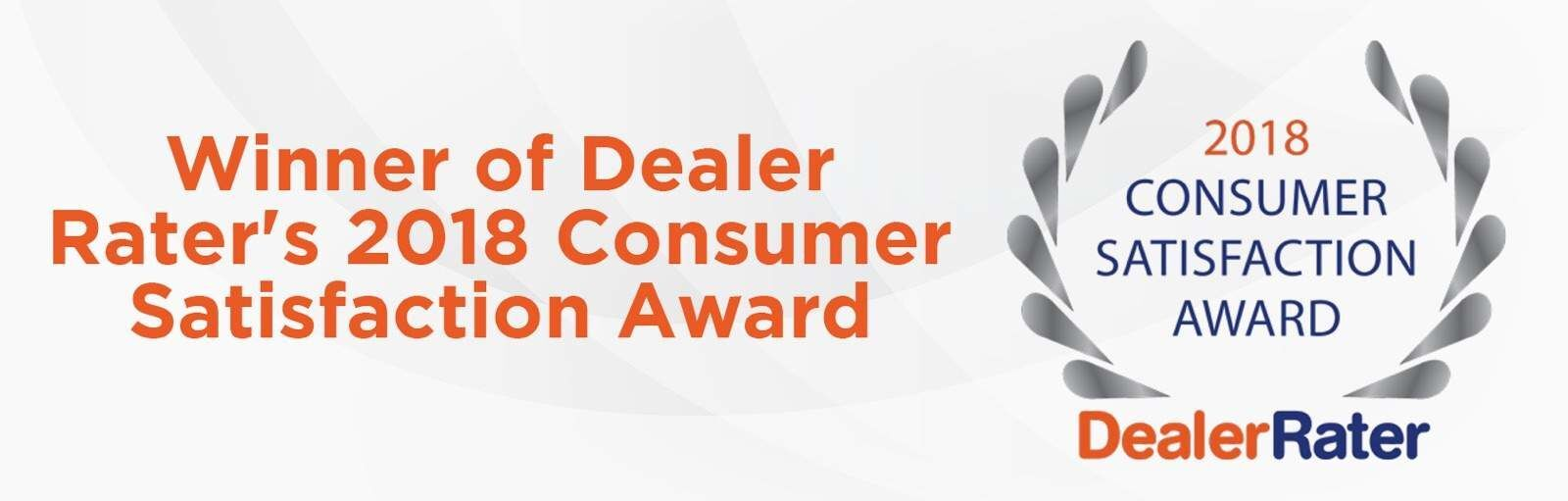 Dealer Rater's Consumer Satisfaction Award