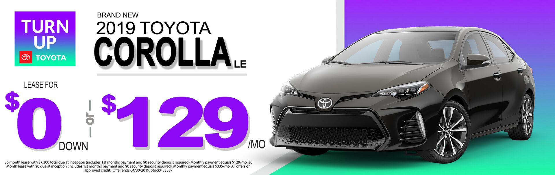 Corolla Lease Jan 2019