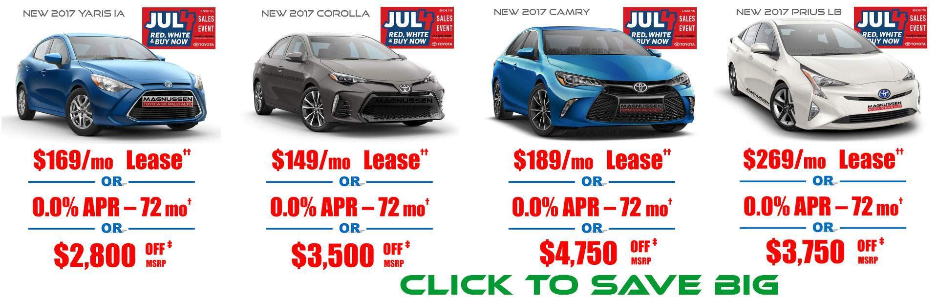 July 4th Toyota Deals