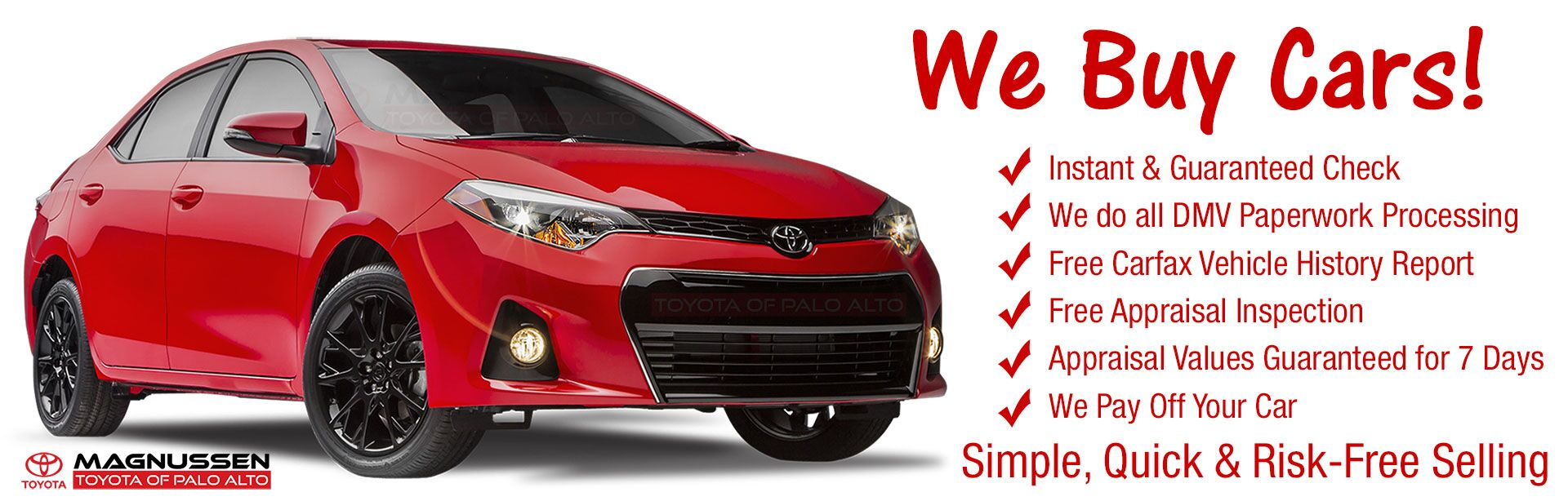 We buy cars - Simple, Quick &  Risk-free Process