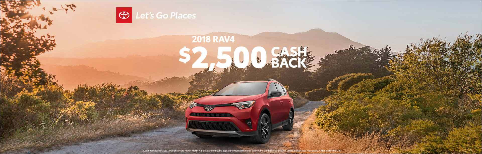 Rav4 Cash Back 2018