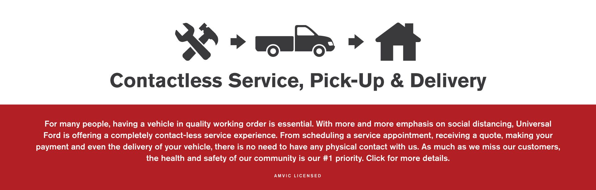 Contactless Service, Pick-Up & Delivery