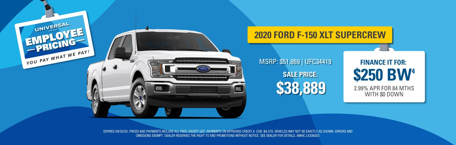Employee Pricing - F-150 XLT