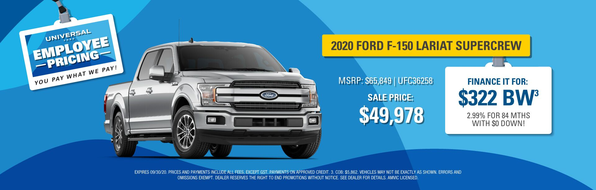 Employee Pricing - F-150 Lariat