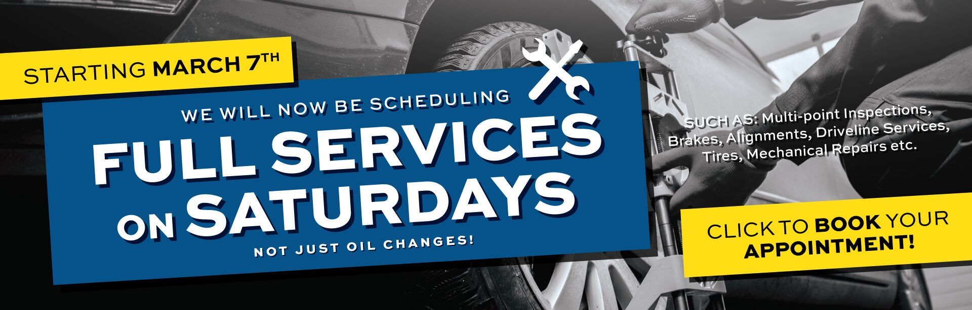 Now Scheduling Full Services On Saturdays