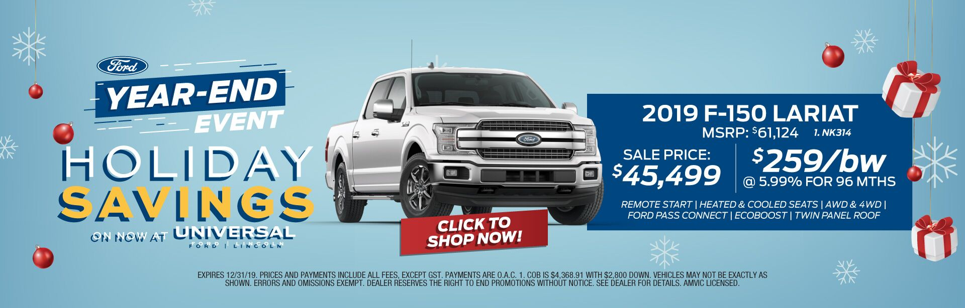 Year-End Event Holiday Savings F-150 Lariat
