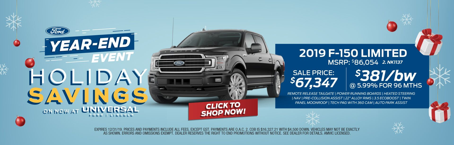 Year-End Event - Holiday Savings F-150 Limited