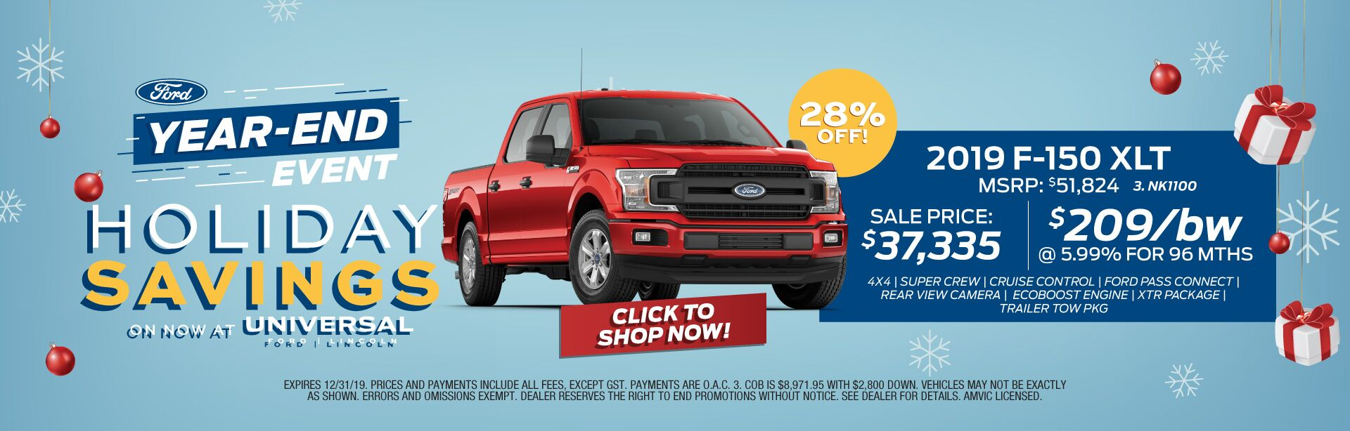 Year-End Event - Holiday Savings F150 XLT