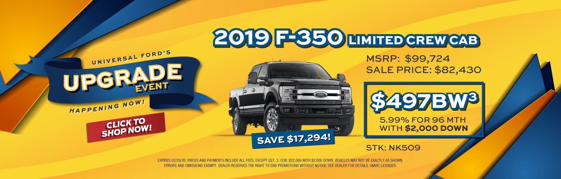Upgrade Event - F-350