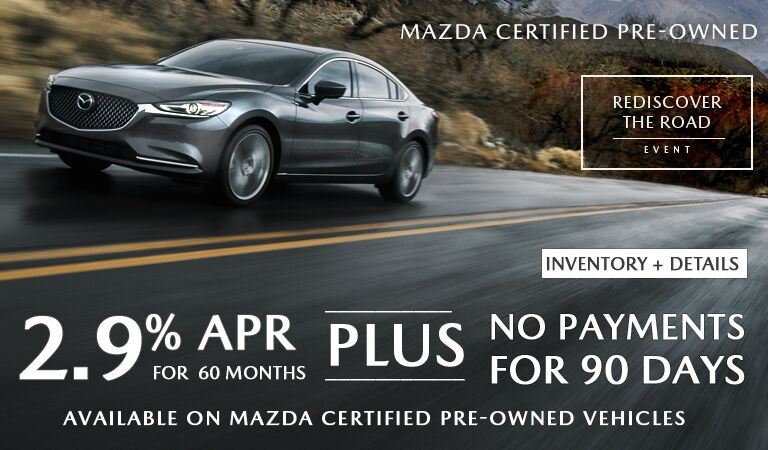 2.9 %APR/60 MO-PLUS 90 DAYS NO PAYMENTS