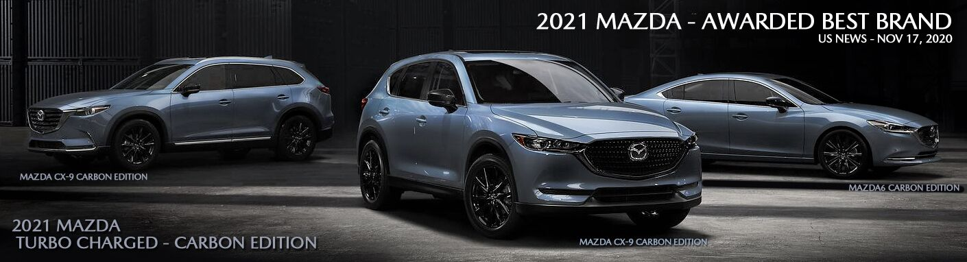 SEE AND DRIVE THE NEW MAZDA CARBON EDITION