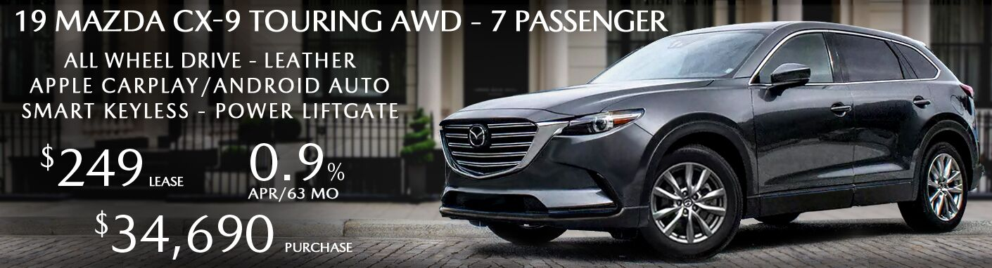 2019 Mazda CX-9 - Leather - 7 Passenger