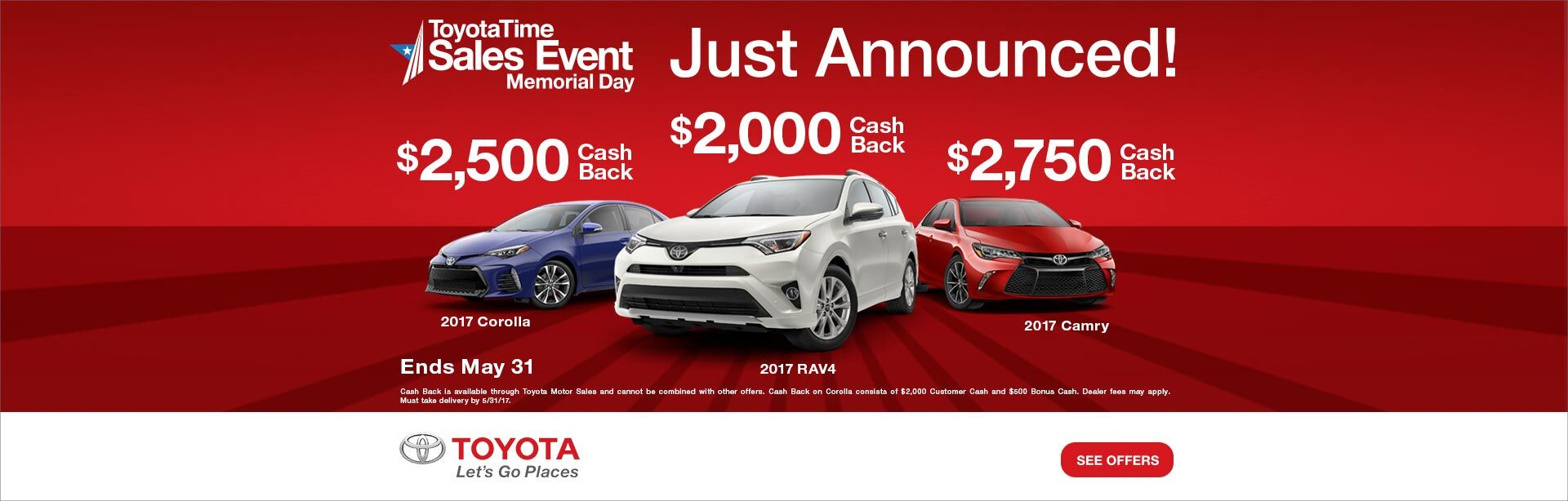 ToyotaTime Memorial Day