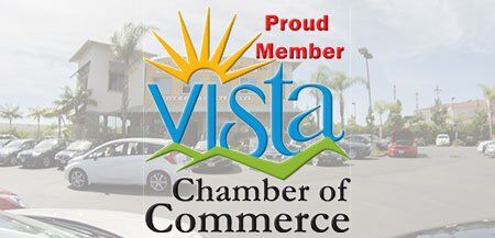 Proud Member of Vista Chamber of Commerce