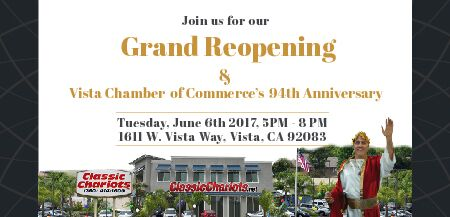 Classic Chariots Grand Reopening