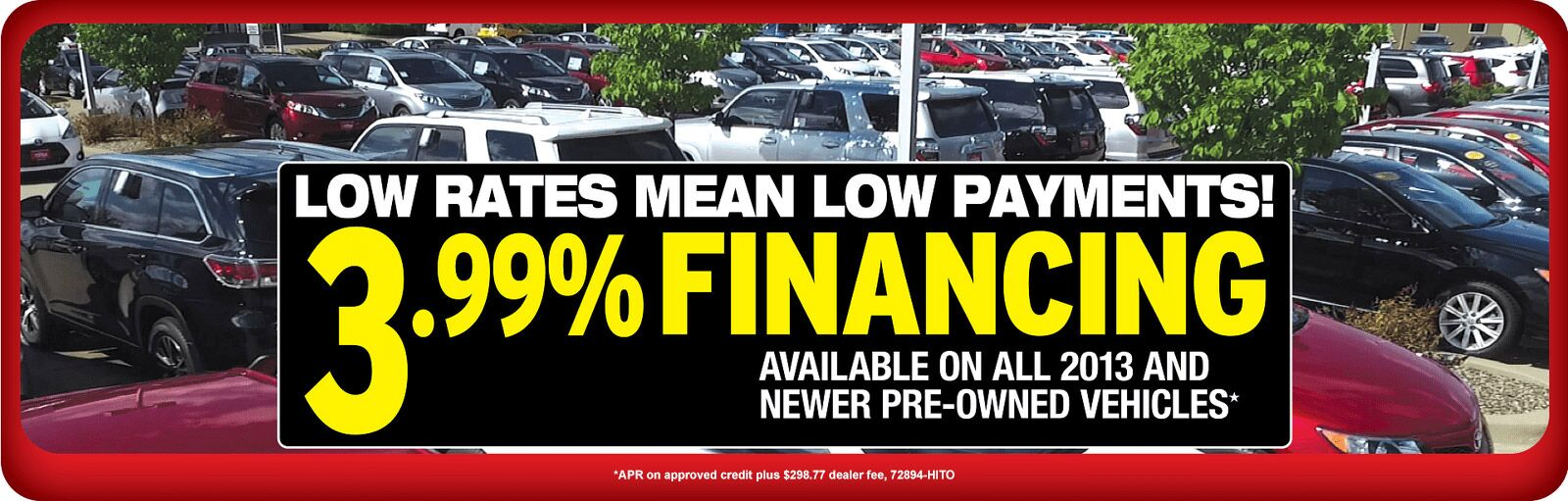 Low Rates Financing