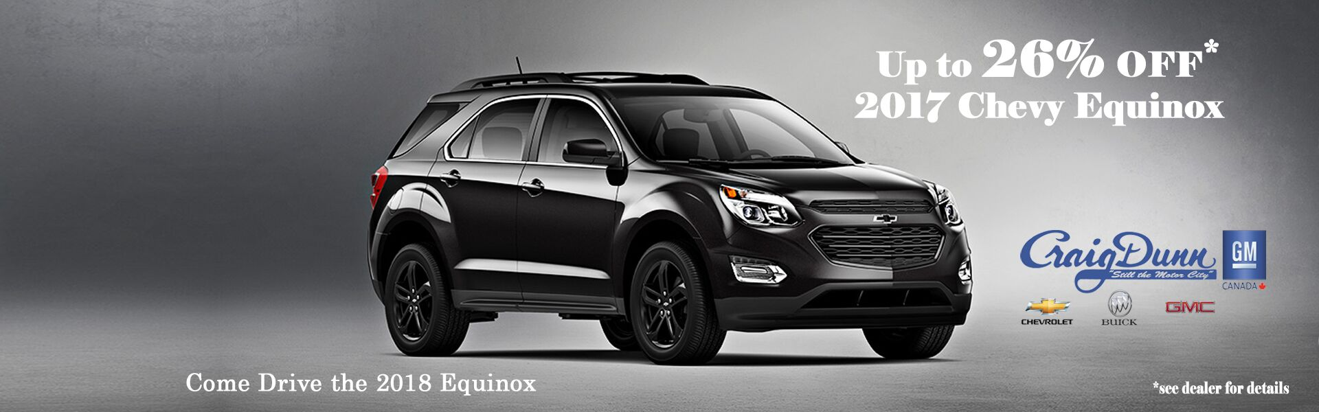 Up to 26% off 2017 Equinox's