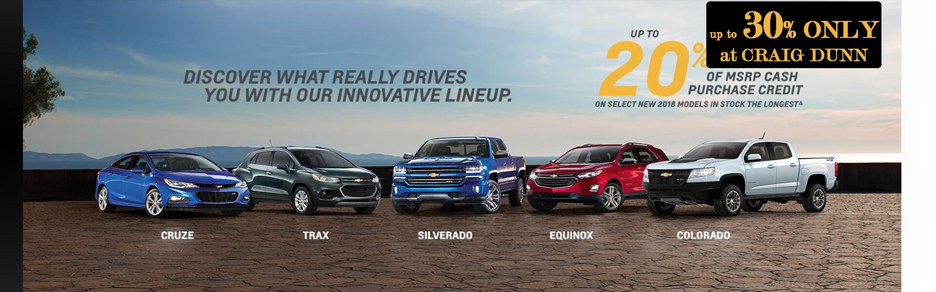 CHEVROLET UP TO 30% OFF MSRP